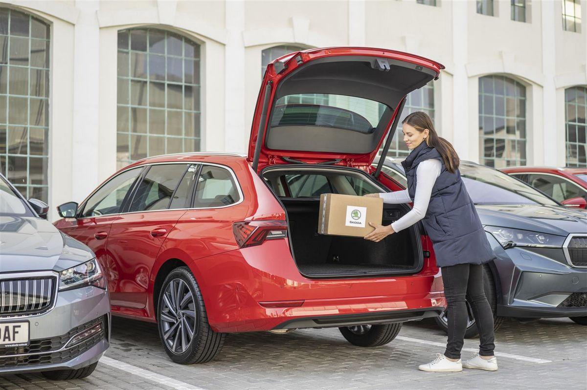 Skoda Car Access per consegna pacchi corrieri