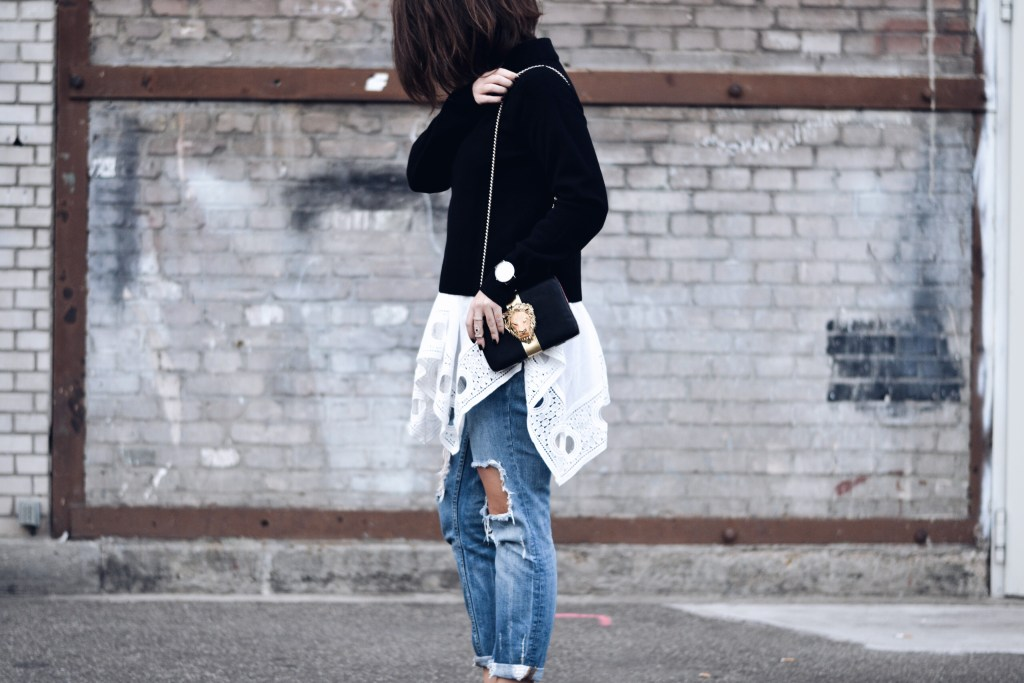 allthatchoices by laura fashionblogger mainz ripped destroyed jeans layering look styrman and crew box clutch 1.JPG