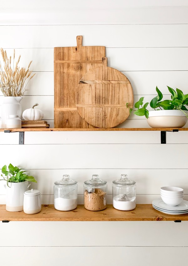 How To Make Stained Wood Open Shelves