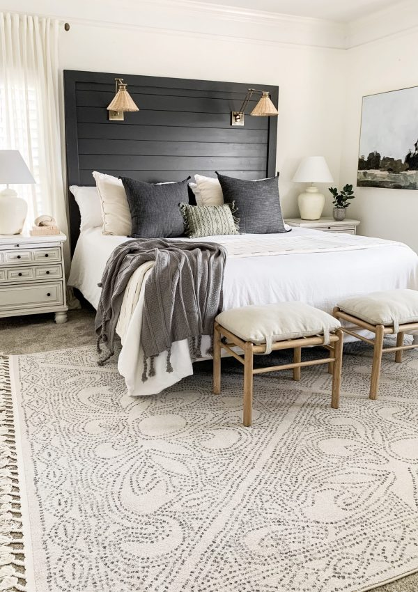 Moody Shiplap Headboard Reveal
