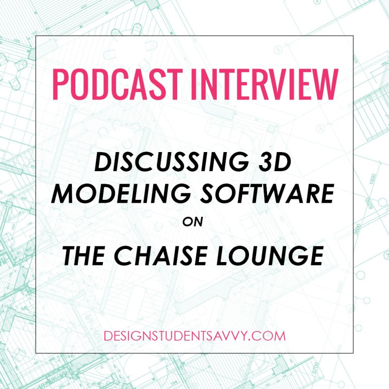 Discussing 3D Modeling Software on The Chaise Lounge Podcast