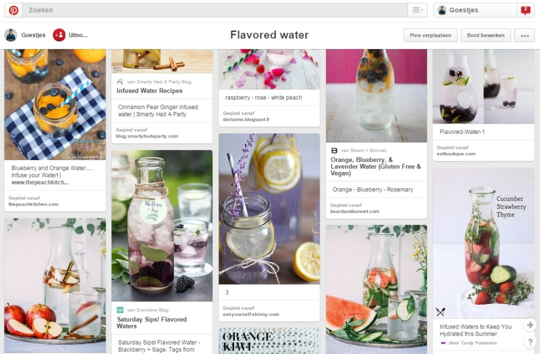 Flavored Water by Goestjes - Pinterest