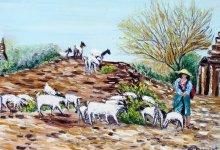 La gardienne de chèvres ( Birmanie )