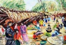 Le marché d'Indein ( Birmanie )
