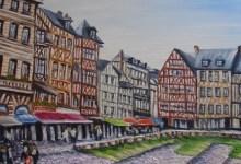 Rouen : la place du vieux marché