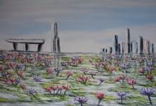 Singapou : le bassin aux lotus