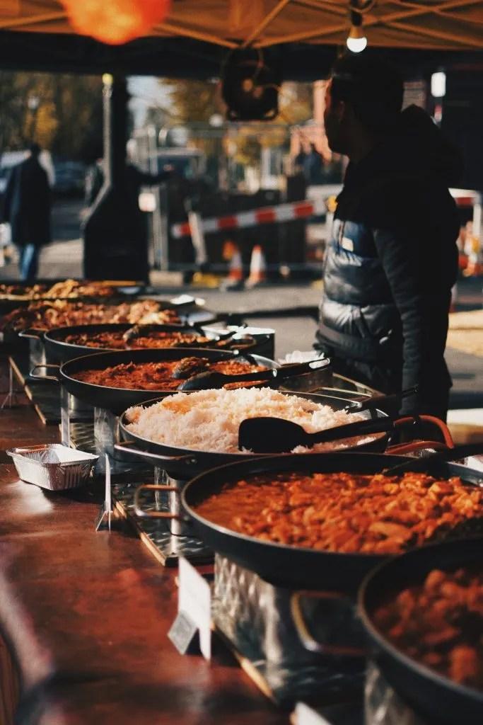Mercato dello Street Food di Portobello a Notting Hill