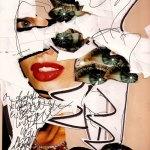 collage, 4, Robert Pennekamp, A4 formaat, 2005, babe, model, tekst, lippestift, oog, ogen