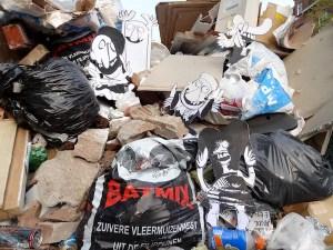 strip, cartoon, grof afval, container, sloop, vuilnis, bouwafval, puin afval, groen afval, stenen, hout, bouw, robert, pennekamp, amsterdam, ophalen