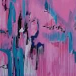 Find your own truth, schilderij, schilderijen, robert pennekamp, mejiro gym, kickboksen, K-1, wereld kampioenen, 695, roze, abstract, wit, abstract, acryl