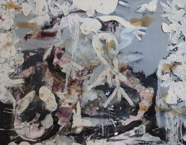 Same place, same day, collage, gemengde technieken, Robert Pennekamp, 2013, 712, robert, pennekamp, grijs, wit, zwart, figuratief, abstract,