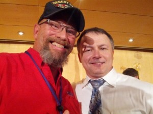 Tom Kauffman and Mike Broomhead, a veterans advocate and Phoenix radio personality, 550 KFYI