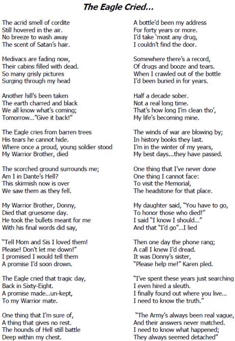 The Eagle Cried 1