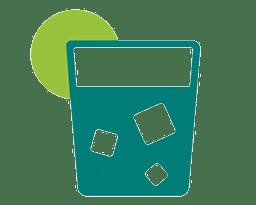 Gobelet réutilisable avec une rondelle de citron
