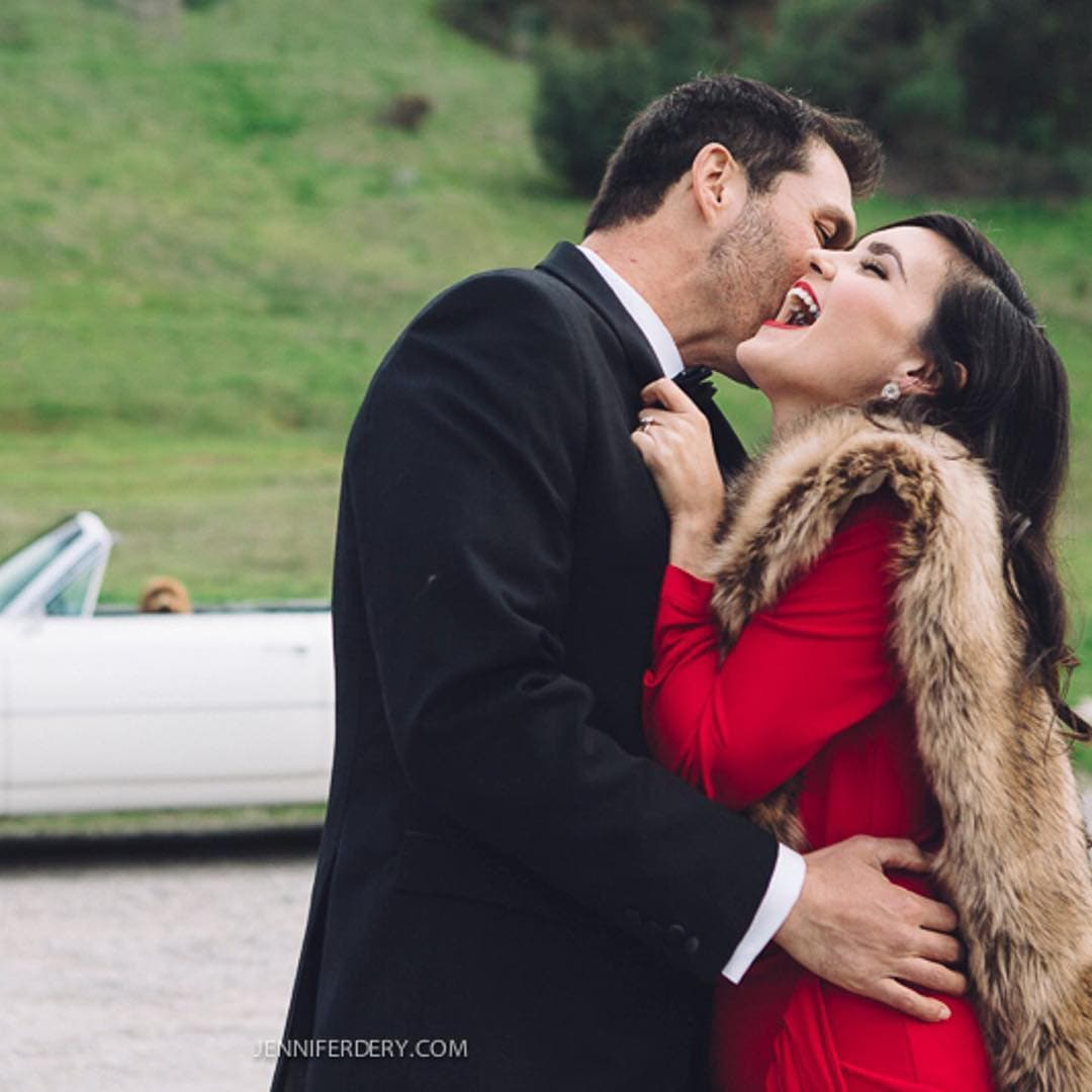 Vintage Glam Engagement Session