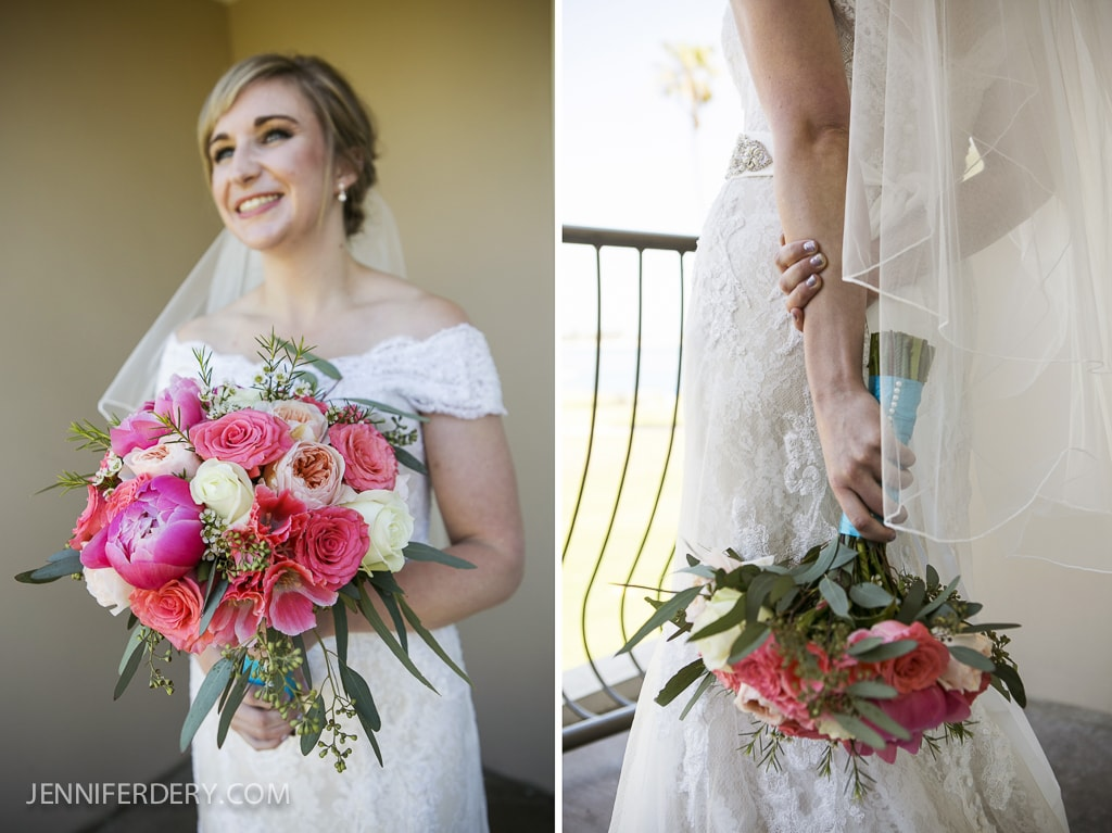 """photos of """"something bue"""" on wedding bouquets"""