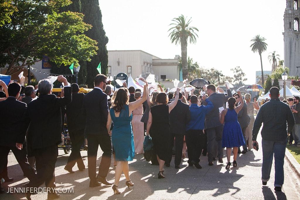 New Orleans Inspired Wedding photos at the Prado Balboa Park San Diego