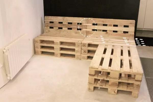 mobilier fabrique avec des palettes en