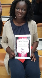 Abi was speechless about winner her Candidate of the Term award with Axcis!