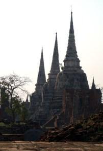 Les prangs de Wat Phra Si Sanphet