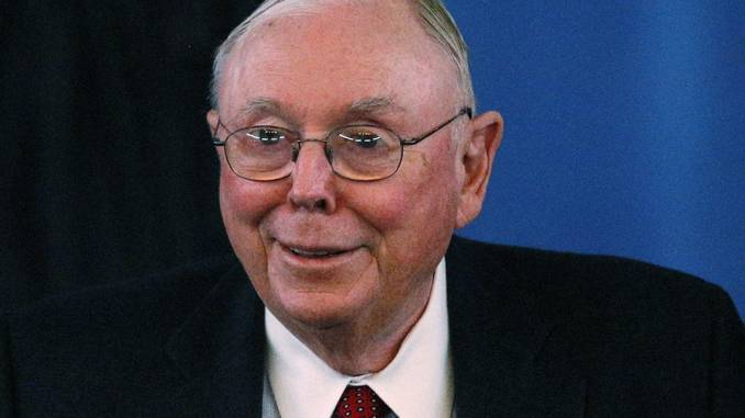 Charlie Munger says Bitcoin is a disgusting product from out of thin air