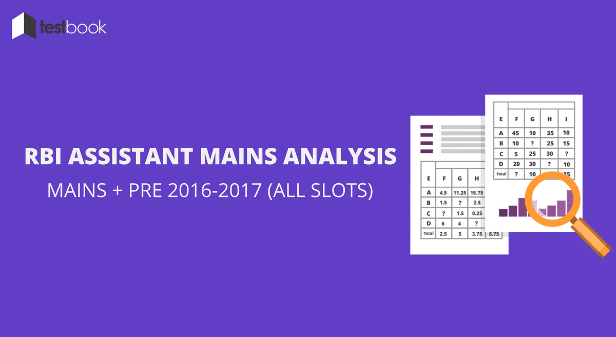 RBI Assistant Analysis of Mains & Prelims 2016 - 2017 (All Slots)
