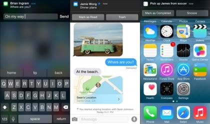 iOS 8 interactive notifications