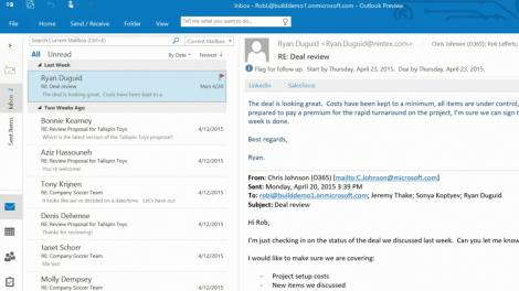 Build 2015: Outlook APIs brings third-party services to 400 million users