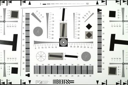 Canon EOS M3 resolution chart