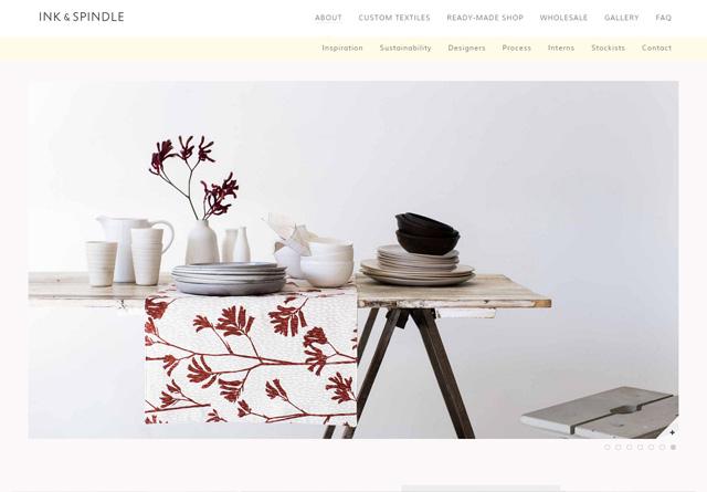 Screenshot of a clean website: Ink & Spindle