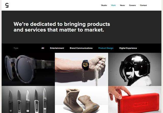 Screenshot of a clean website: Cinco