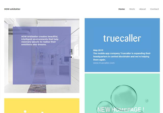 Screenshot of a clean website: HOW arkitekter