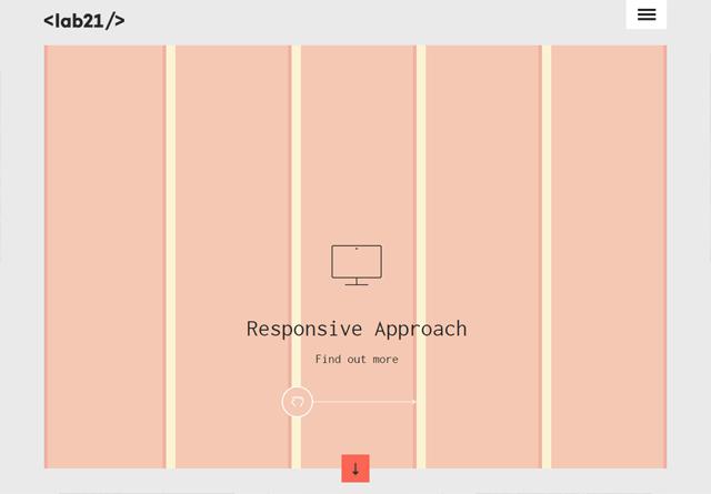 Screenshot of a clean website: Lab21 Digital Bureau