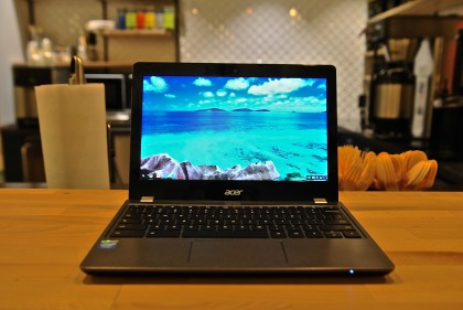 Packed with a low-end processor, a low resolution screen and very little storage capacity, the Acer C740 is worth skipping – unless you're wowed by its sturdy design. Acer Chromebook C740