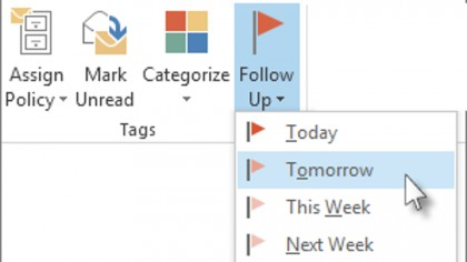 Outlook flags