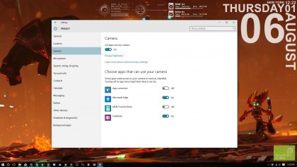 Windows 10 privacy settings