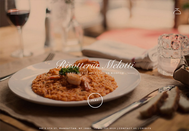 Image of a restaurant website: Risotteria Melotti
