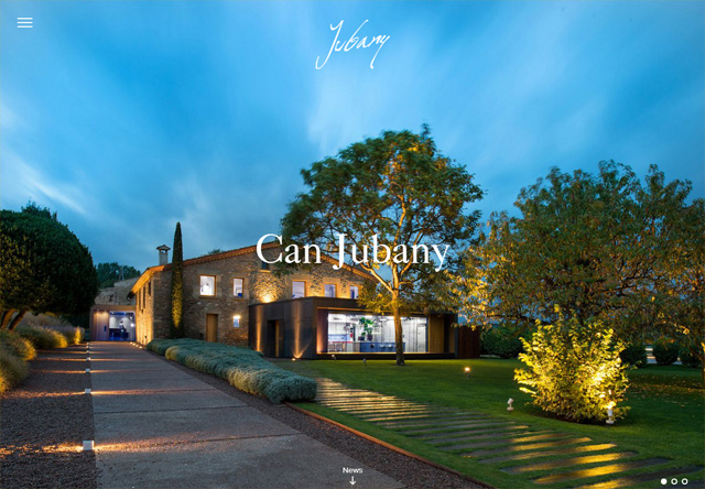 Image of a restaurant website: Restaurant Can Jubany