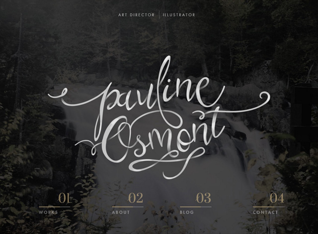 One-page website: Pauline Osmont