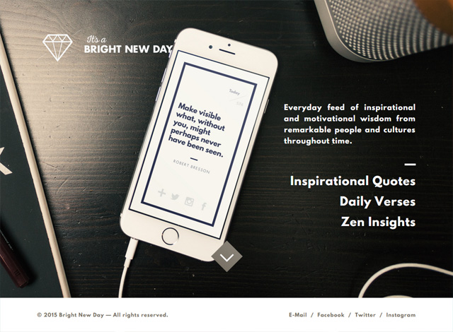 One-page website: Bright New Day