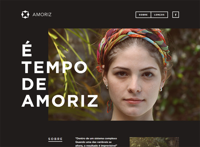 One-page website: AMORIZ