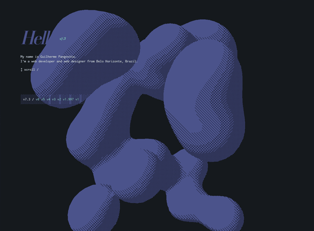 One-page website: Guilherme Pangnotta