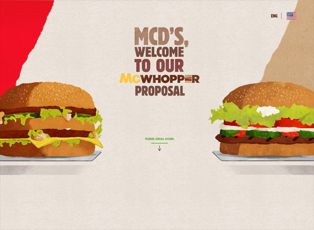 One-page website: McWhopper