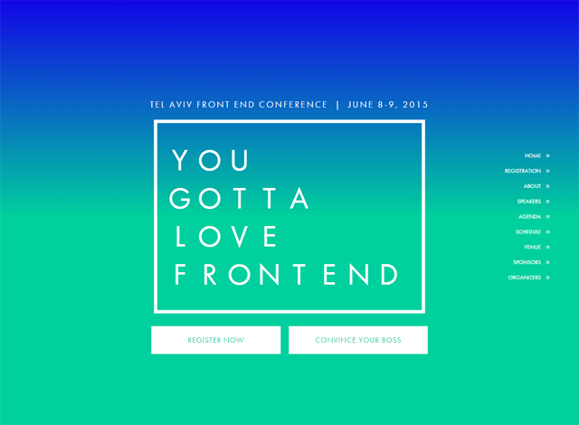 One-page website: You Gotta Love Frontend Conference
