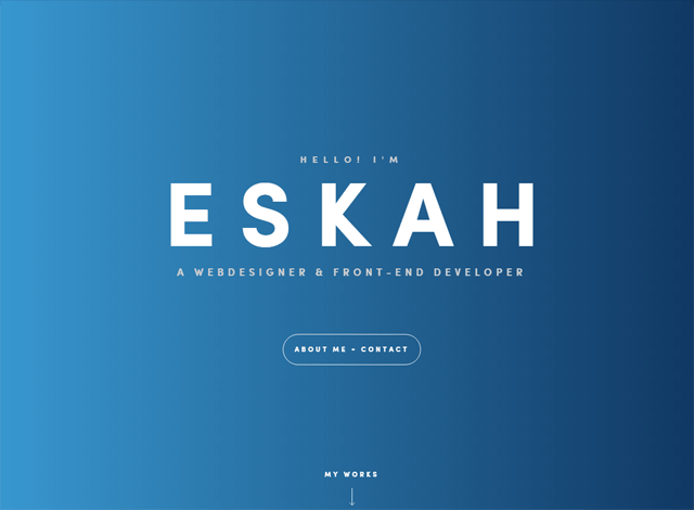One-page website: Eskah