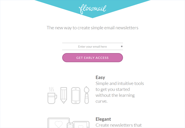 Coming soon page of Flowmail