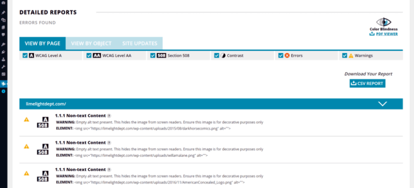 Preview of WordPress ADA compliance plugin, Accessibility Suite