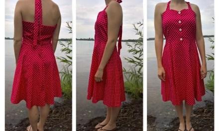 Weiße Punkte auf rosarotem Grund…[Vintagekleid von Babyonline]