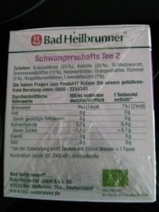 Bad Heilbrunner Schwangerschafts Tee 2 Rückseite