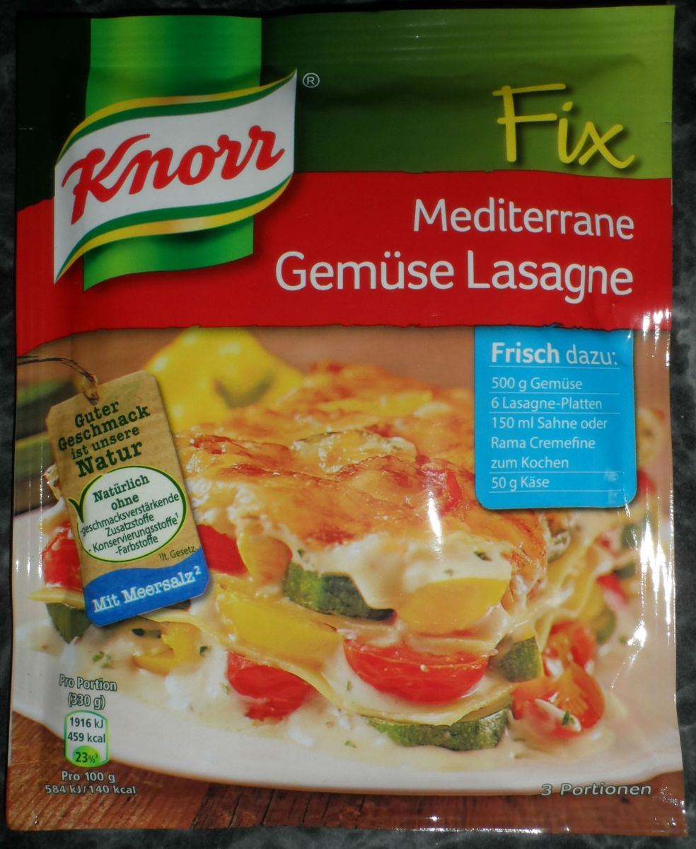 KNORR Fix für mediterrane Gemüse Lasagne